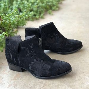 Seychelles Lantern Floral Embroidered Ankle Boots